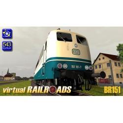DB BR151 Blau-Beige